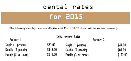 Delta Dental Rates 2015